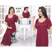 Flourish Nightwear - FL-513 - Nighty - diKHAWA Online Shopping in Pakistan