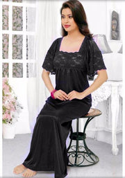 Long Nighty - FL-521 - Flourish Nightwear - Nighty - diKHAWA Online Shopping in Pakistan