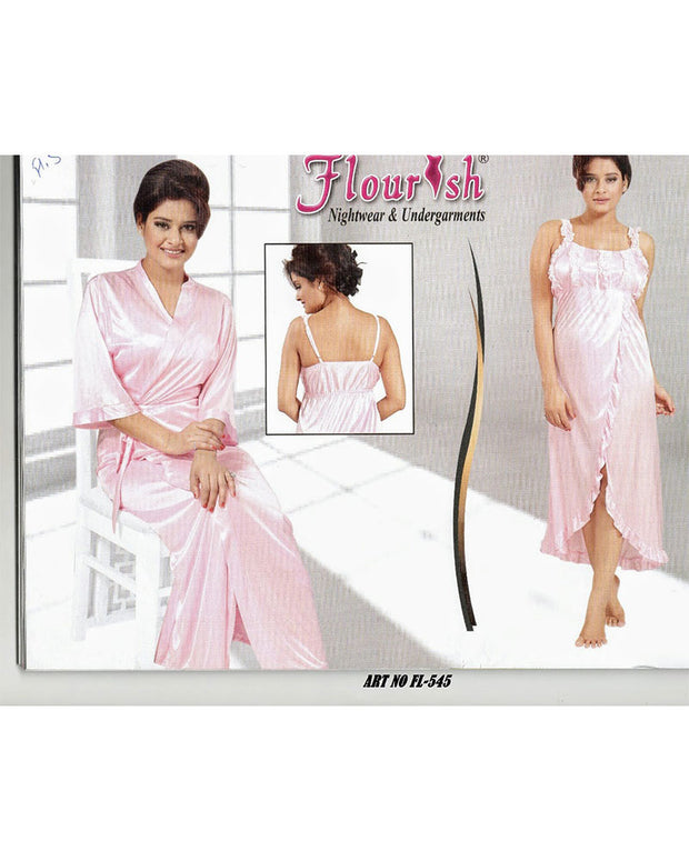 Flourish 2 Pcs Nightwear - FL-545 - Nighty Sets - diKHAWA Online Shopping in Pakistan