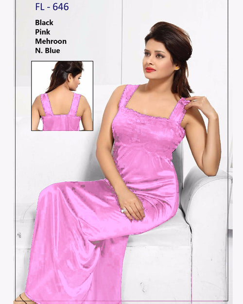 Light Pink Stylish FL-646 - Flourish Exclusive Bridal Nighty Collection