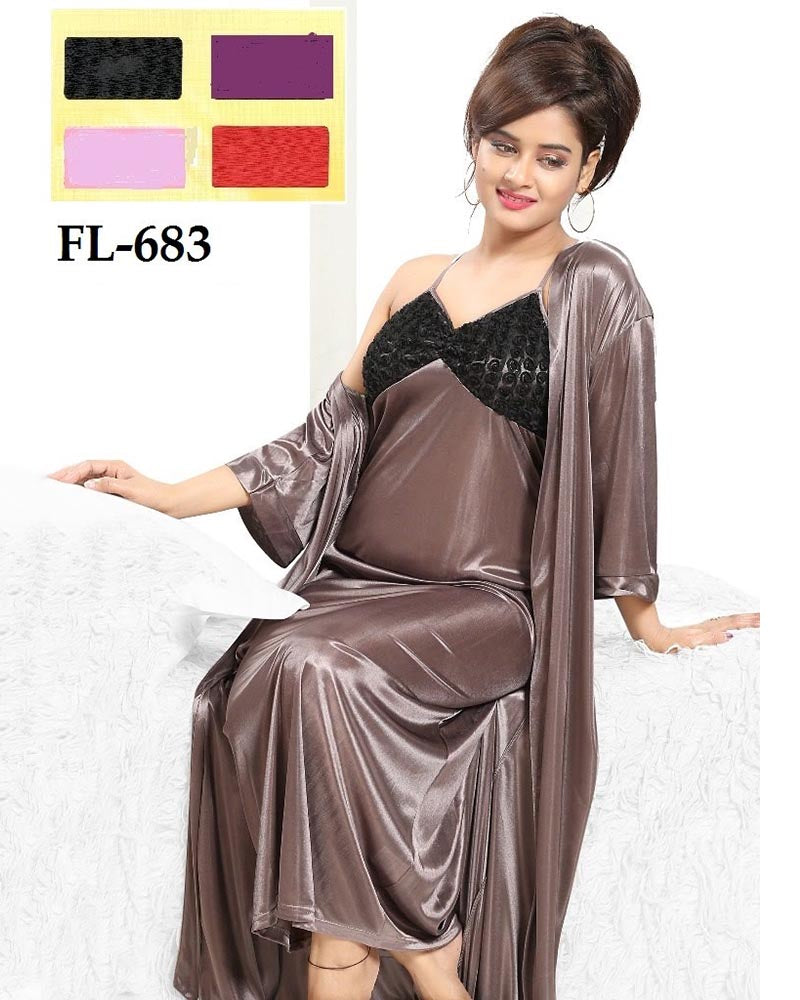 2 Pcs Nighty FL-683 - Flourish Exclusive Bridal Nighties