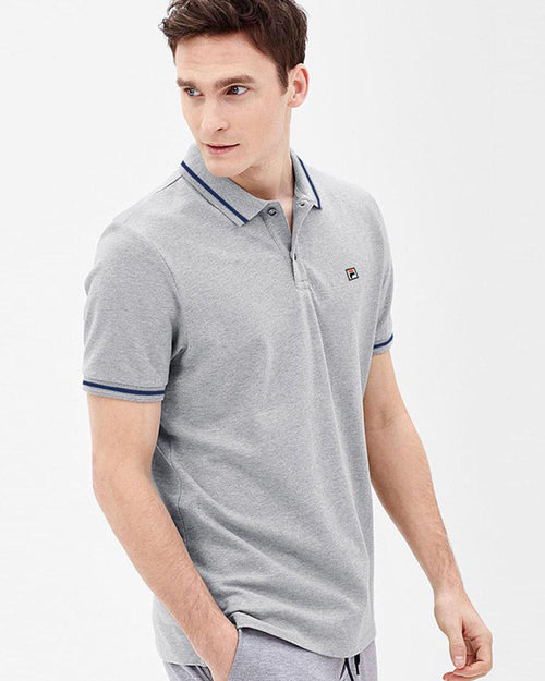 Fila Branded Polo T-Shirt For Mens - Grey Polo Branded T-Shirts