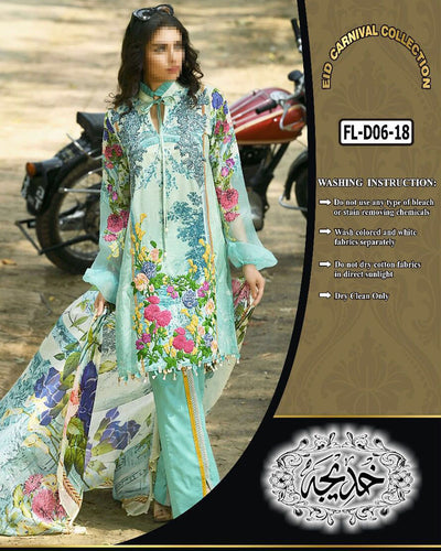 Firdous Collection With Chiffon Dupatta FL-D06 (Replica)(Unstitched)
