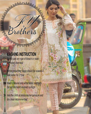 Firdous Lawn Master Copy With Digital Printed Silk Dupatta (Replica)(Unstitched)