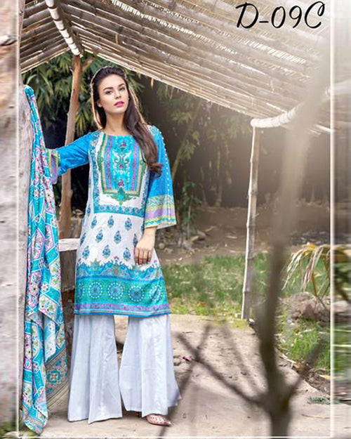 D'vine Lawn Suits 3 Piece - 09-C (Original) (Unstitched)