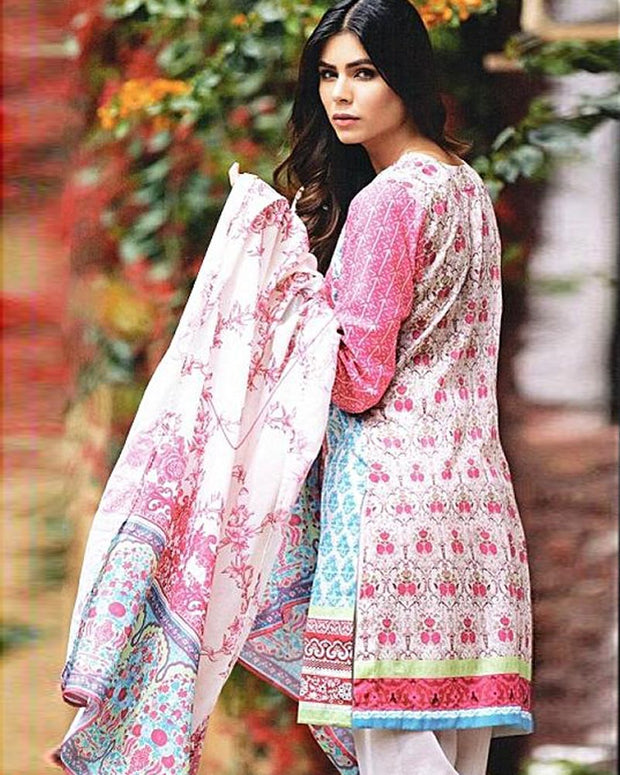 D'vine Lawn Suits 3 Piece - 11-A (Original) (Unstitched)