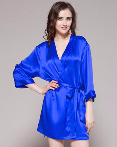 Royal Blue - 100% Polyester Satin Gown - GWN 11 RB - Ladies Gown - diKHAWA Online Shopping in Pakistan