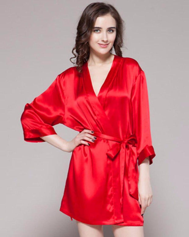 Red - 100% Polyester Satin Gown - GWN 11 RD - Ladies Gown - diKHAWA Online Shopping in Pakistan
