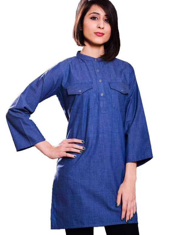 Fifth Avenue Branded Denim Kurti For Girls - Stitched Kurti For Women