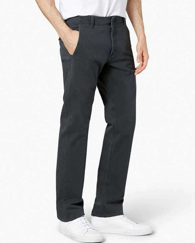 Mens Cotton Dress Pants By Dockers - Grey Cotton Formal Dress Pants