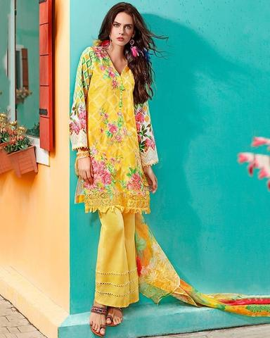 GUL AHMED SILK SUIT (Replica) (Unstitched)
