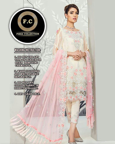 GULAL FULL CHIFFON SUIT (Replica)(Unstitched)
