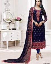 Indian Original Dress Jorjat Chiffon With Chiffon Dupatta - H004 (Replica)(Unstitched)