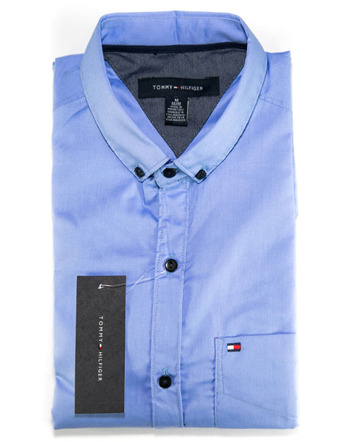 Men Cotton Plain Shirts & Party Shirts By Tommy Hilfiger