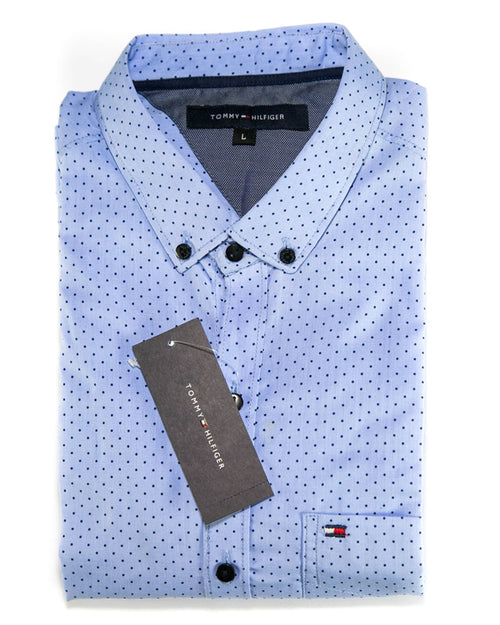 Men Cotton Polka Dotted Shirts & Party Shirts By Tommy Hilfiger