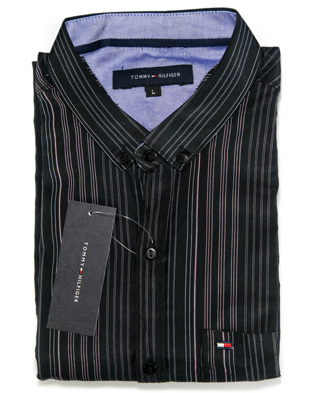 Men Cotton Striped Design Shirts & Party Shirts By Tommy Hilfiger
