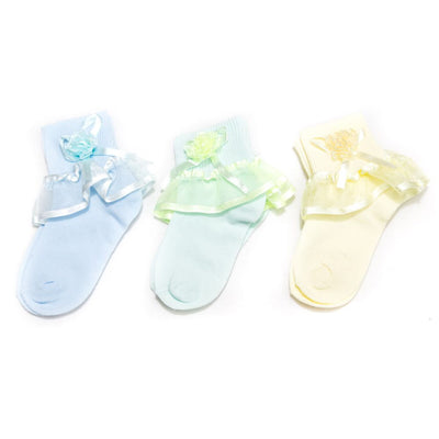 Kids Frill Socks – 8 to 10 Years Kids – KL-32B – Pack Of 3 - Kids Socks - diKHAWA Online Shopping in Pakistan