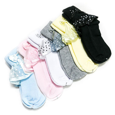Baby Frill Socks – 8 to 12 Years Kids – KL-35 – Pack Of 6 - Kids Socks - diKHAWA Online Shopping in Pakistan