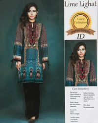 Lime Lighat Embroidered Lawn Suits With Chiffon Dupatta By Ideal - 3 Piece Suits - IDL-005 (Replica)(Unstitched)