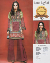 Lime Lighat Embroidered Lawn Suits With Chiffon Dupatta By Ideal - 3 Piece Suits - IDL-006 (Replica)(Unstitched)