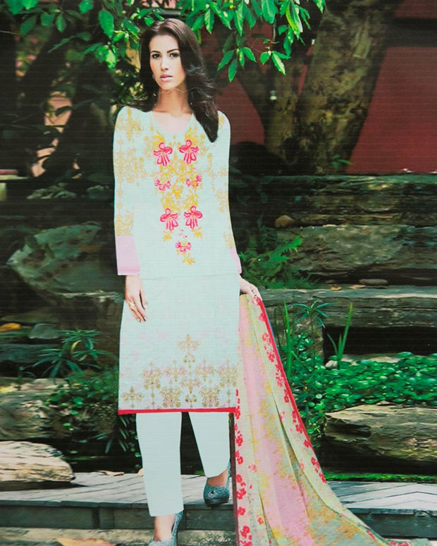 Sapphire Embroidered Lawn Suits With Chiffon Dupatta By Anaya Haram Vol-1 - 3 Piece Suits - AH006 (Replica)(Unstitched)
