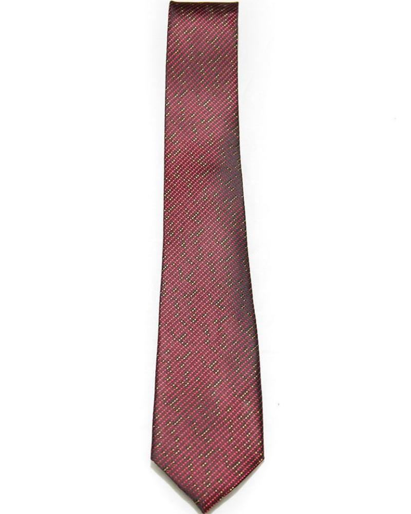 Ties For Men – Red Golden Dotted Design – JB-2037 - Ties - diKHAWA Online Shopping in Pakistan