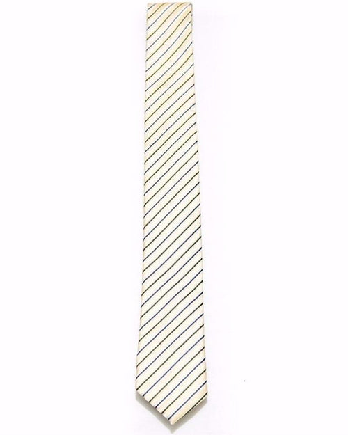 Off White Tie With Blue Stripes – Wedding Ties For Men – JB-2041 - Ties - diKHAWA Online Shopping in Pakistan