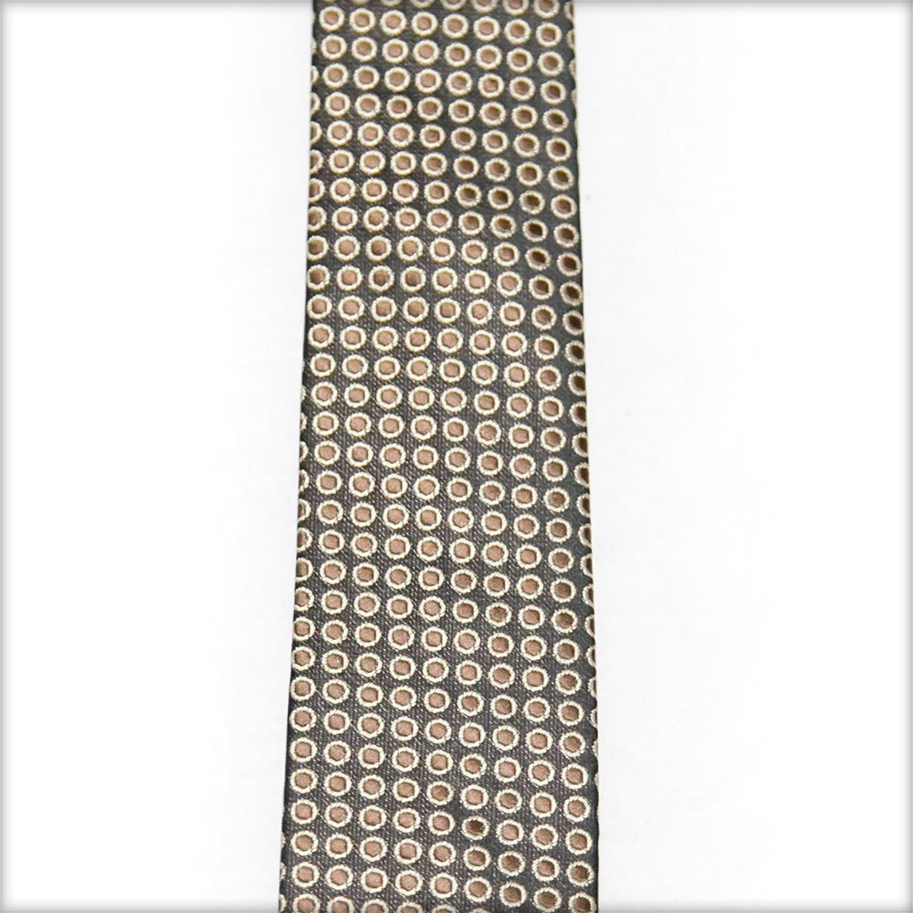 Black Gold Dotted Tie For Men – JB-2045 - Ties - diKHAWA Online Shopping in Pakistan