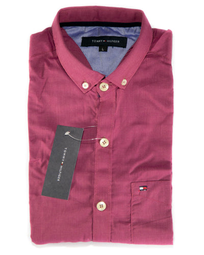 Mens Cotton Plain Design Shirts & Party Shirts By Tommy Hilfiger