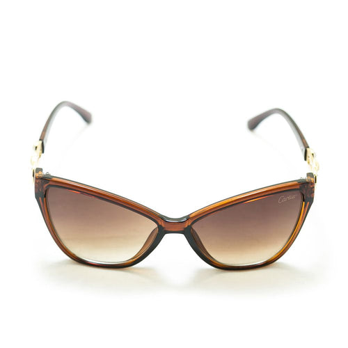 Cartier Ladies Sunglasses – 4019 – Brown With Golden Design - Ladies Sunglasses - diKHAWA Online Shopping in Pakistan