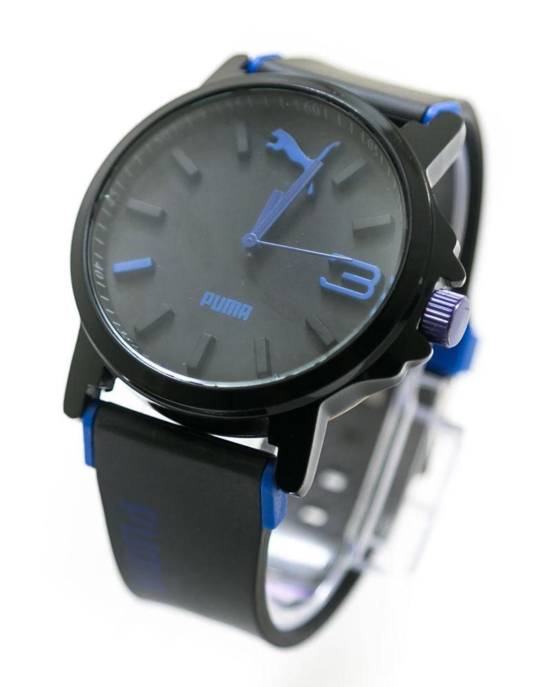 Puma Watch For Men Rubber Belt (Blue) - Mens Watches - diKHAWA Online Shopping in Pakistan
