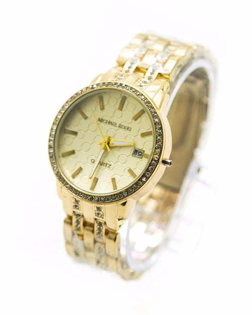 Michael Kors Ladies Watch – Gold With Diamonds & Date - Ladies Watches - diKHAWA Online Shopping in Pakistan