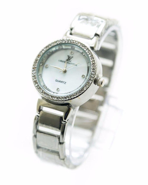 Louis Vuitton Ladies Watch – Silver With Diamonds - Ladies Watches - diKHAWA Online Shopping in Pakistan