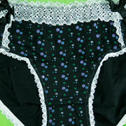Pack of 3 - Cotton Full Briefs Ultra Soft - Flourish Flower Print Cotton Panty - FL-515