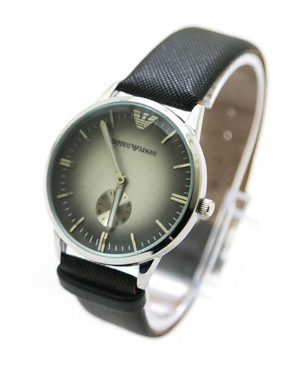 Buy Armani Men Watch With Silver Dial & Black Belt – MWS-109 Online in Karachi, Lahore, Islamabad, Pakistan, Rs.900.00, Mens Watches Online Shopping in Pakistan, Armani, Belt Watches, cf-type-watches, cf-vendor-armani, Fancy Watches, For Boys, For Men, Round Dial Watches, diKHAWA Online Shopping in Pakistan