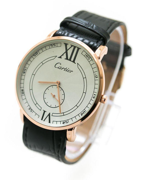 Cartier Men Watch With Rose Gold Dial & Brown Belt – WL-805 - Mens Watches - diKHAWA Online Shopping in Pakistan