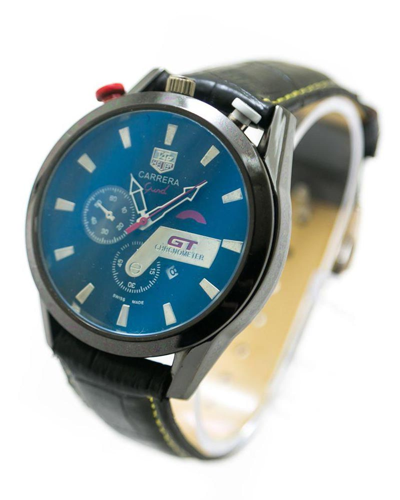 Tag Heuer Men Watch With Blue Dial & Black Belt – MWS-105 - Mens Watches - diKHAWA Online Shopping in Pakistan