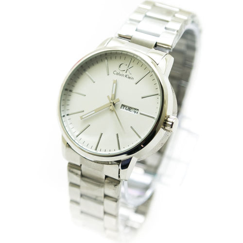Ck Calvin Klein Men Watch With White Dial & Silver Chain – WL-3028
