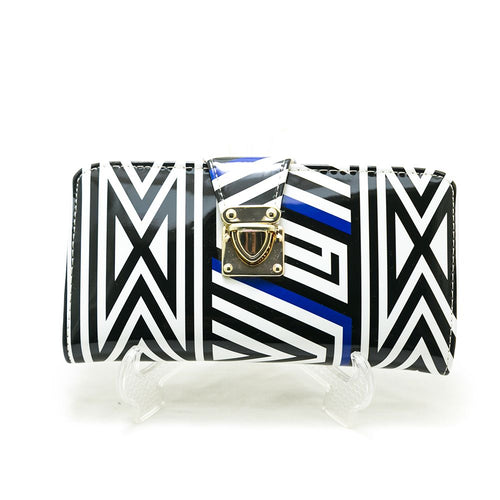 Ladies Hand Purse – Exclusive Black & White Stripes – HPS-02 - Ladies Purse - diKHAWA Online Shopping in Pakistan