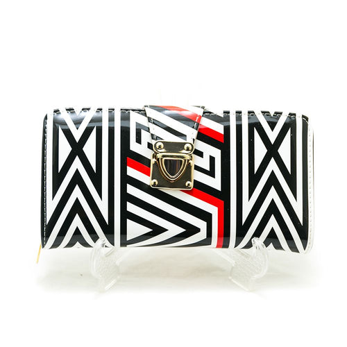 Ladies Hand Purse – Exclusive Black & White Stripes – HPS-03 - Ladies Purse - diKHAWA Online Shopping in Pakistan