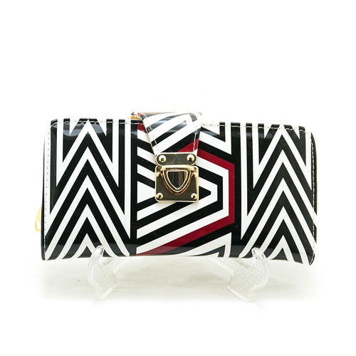 Ladies Hand Purse – Exclusive Black & White Stripes – HPS-04 - Ladies Purse - diKHAWA Online Shopping in Pakistan