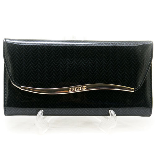 Ladies Hand Purse – Glossy Black – HPS-06 - Ladies Purse - diKHAWA Online Shopping in Pakistan