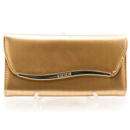 Ladies Hand Purse – Glossy Gold – HPS-07 - Ladies Purse - diKHAWA Online Shopping in Pakistan