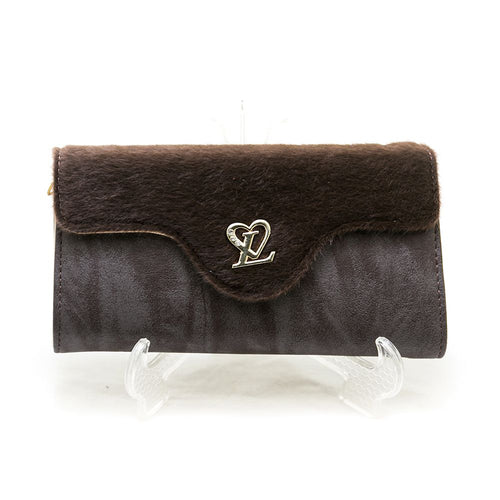 Ladies Hand Purse – Brown Fur – HPS-11 - Ladies Purse - diKHAWA Online Shopping in Pakistan