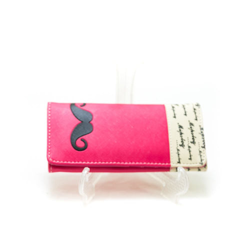 Ladies Hand U Wallets – Mustache – WPS-12 - Ladies Wallets - diKHAWA Online Shopping in Pakistan