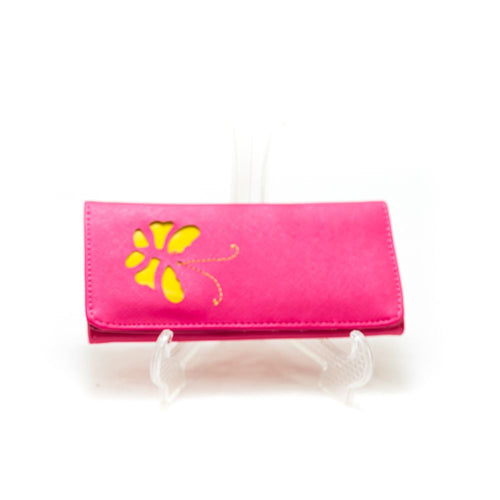 Ladies Hand U Wallets Pink – Butterfly – WPS-15 - Ladies Wallets - diKHAWA Online Shopping in Pakistan