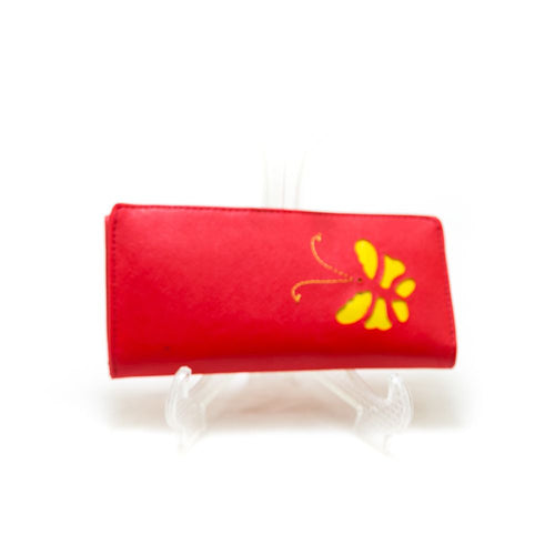 Ladies Hand U Wallets Red – Butterfly – WPS-16 - Ladies Wallets - diKHAWA Online Shopping in Pakistan
