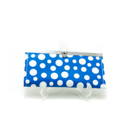 Clutch Purse For Ladies – Blue & White Dotted – WPS-04 - Ladies Purse - diKHAWA Online Shopping in Pakistan