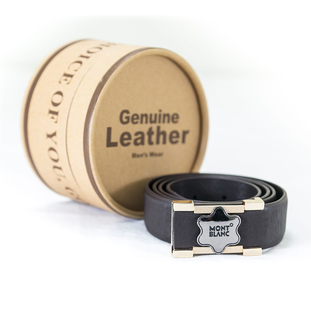 Mont Blanc Brown Leather Belts For Men – MBS-119 - Belts - diKHAWA Online Shopping in Pakistan