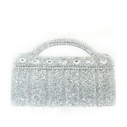 Bridal Purse Silver With Diamond & Stones – BPS-117 - Ladies Purse - diKHAWA Online Shopping in Pakistan
